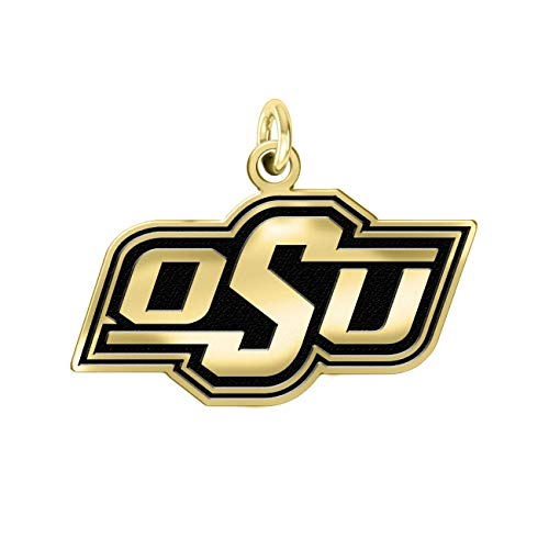 Oklahoma State Cowboys OSU 14k Yellow Gold Cut Out Logo College Charm (3/8