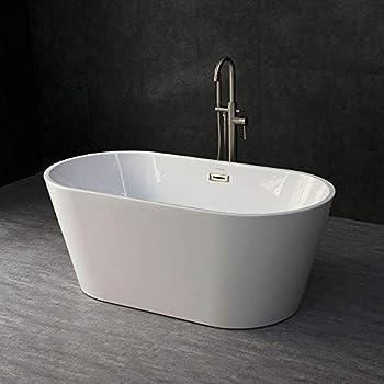 "WOODBRIDGE 59"" Acrylic Freestanding Bathtub Contemporary"