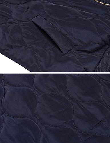 Manga Talla Moda Larga Ocasional Otoño Con Vintage Cremallera Grande Sólido Chaqueta Mujer Festivo Coat Outerwear Abrigo Primavera Color Bolsillos Chaquetas Dunkelbalu Bomber Elegantes 4xUPEwnYq7