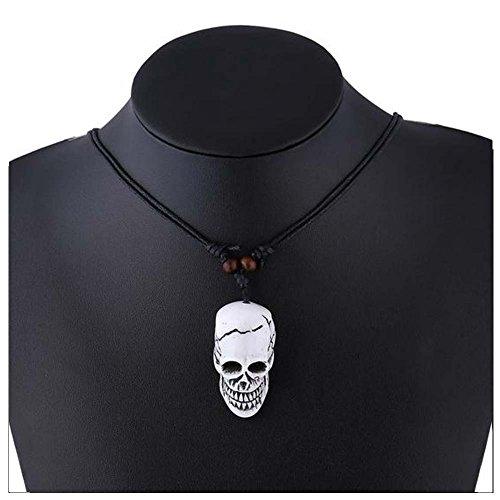 Christmas GERGER BO Halloween Moon Titan Skull Bull Elephant Leather Cord Pendant Necklace(5) (Daisy And Peach Halloween Costumes)
