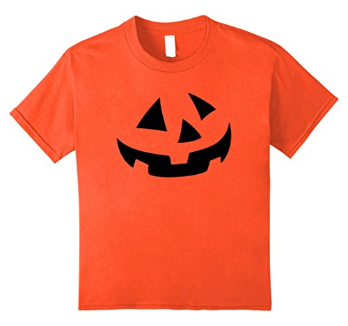 Kids Pumpkin Face Halloween Costume TShirt For Kids Boy Girl 12 (Pumpkin Face Halloween Costume)