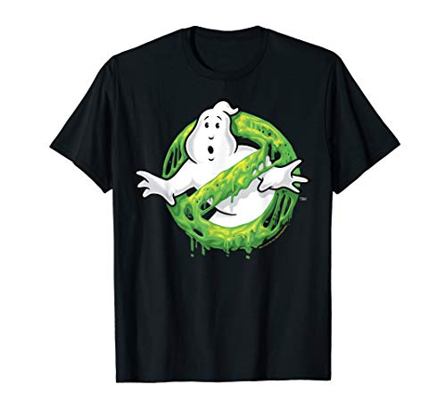 Ghostbusters Classic Slime Ghost Logo Graphic T-Shirt, 5 Colors, S to 3XL