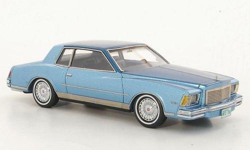 Chevrolet Monte Carlo, metallic-hellblue/metallic-blue, 1978, Model Car, Ready-made, Neo 1:43
