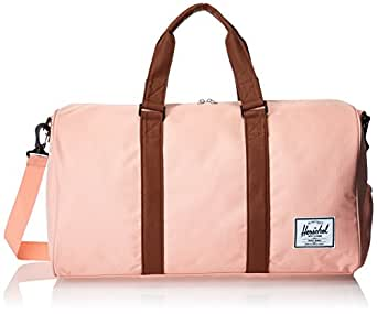Herschel Supply Co. Novel Duffle Bag, Apricot Blush/Tan Synthetic Leather