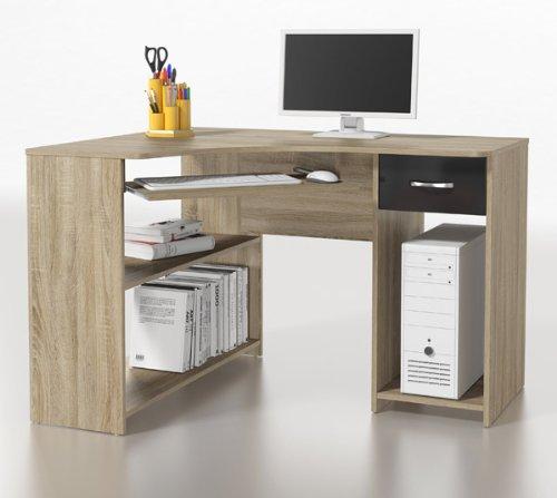 eckschreibtisch eiche bestseller shop f r m bel und einrichtungen. Black Bedroom Furniture Sets. Home Design Ideas