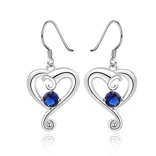 fonk: silver earings cloud heart purple drop cuff Factory HBE019