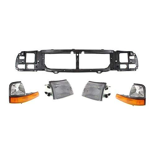 Evan-Fischer EVA6451130133907 Headlight Kit for 99-2000 Ford Ranger XL Header Panel, Headlight, Corner Light