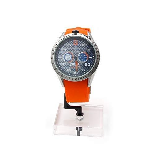 Relojes Calgary, GP Racing Naranja, analogico Correa Naranja, acuatico 5 ATM: Amazon.es: Relojes