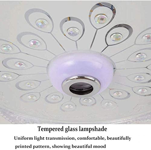 XYZMDJ Chandelier -Bluetooth Crystal Ceiling Light, Dimmable Music Chandelier, Embedded Installation Light With Remote