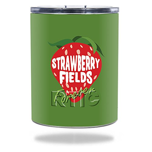 (MightySkins Skin Compatible with RTIC Lowball 10 oz (2016) - Strawberry Fields Forever | Protective, Durable, and Unique Vinyl wrap Cover | Easy to Apply, Remove, and Change Styles | Made in The USA)