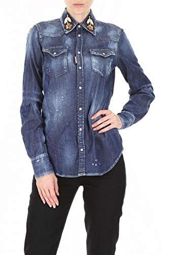 S72dl0589s30341470 Chemise Femme Coton Dsquared2 Bleu Iq5fRxUw