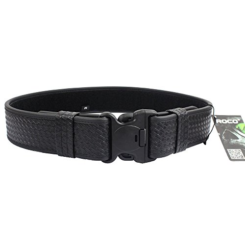 ROCOTACTICAL Basketweave Police Duty Belt, Web Duty Belt with Loop Liner (Medium, 34-40)