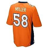 NIKE Denver Broncos Von Miller Orange Youth Game Jersey Size XL