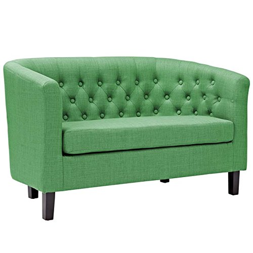 Modway Prospect Upholstered Contemporary Modern Loveseat In Kelly Green (Contemporary Green)
