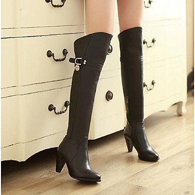 Over Boots Winter Cowhide Women'S UK3 RTRY Casual EU36 Boots For Fashion The US5 CN35 5 Knee Brown Boots Fall 5 Shoes Black c8SqnHwqP