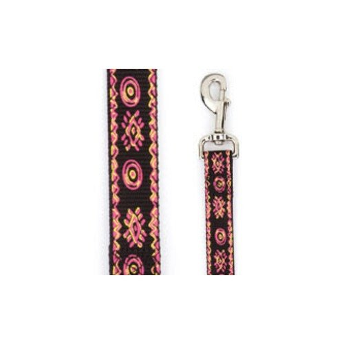 Casual Canine Artisan Prints Raspberry Sorbet Nylon Dog Lead