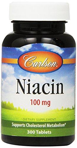 Carlson Labs niacine, 100mg, 300 comprimés
