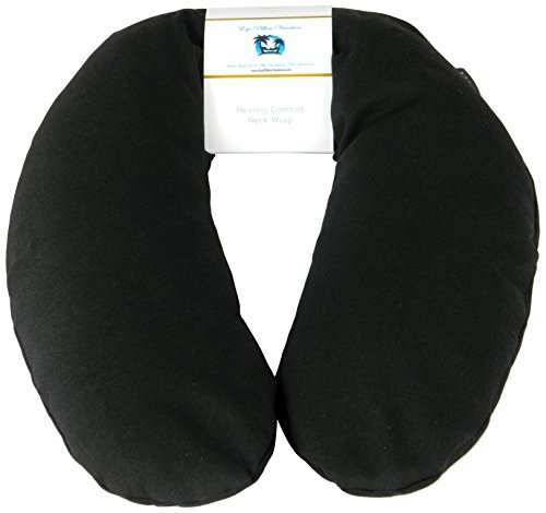 Neck Pain Relief Pillow - Hot/Cold Therapeutic Herbal Pillow For Shoulder & Neck Pain, Stress & Migraine Relief (Black - Organic ()