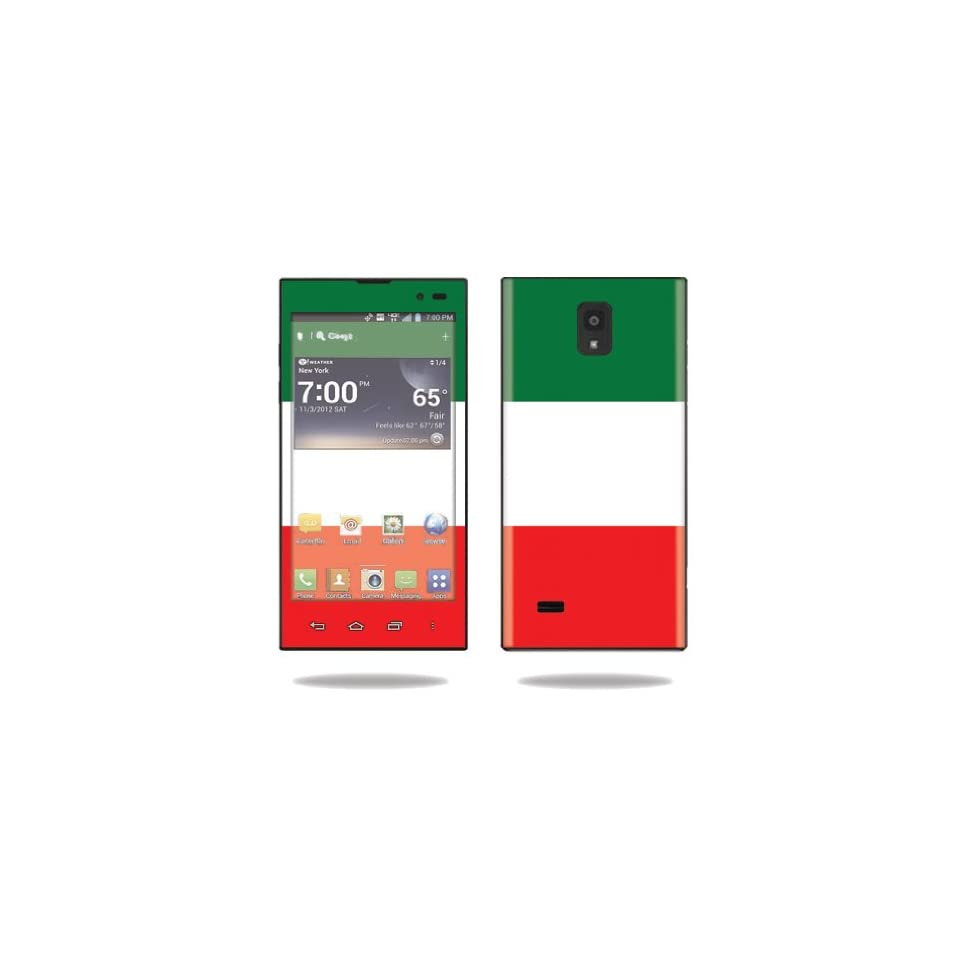 MightySkins Protective Vinyl Skin Decal Cover for LG Spectrum 2 Cell Phone Sticker Skins Italian Flag Computers & Accessories