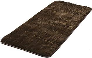 山善 洗えるどこでもカーペット(180×80cm) フランネル仕上げ 室温センサー付 ブラウン YWC-182F(T)