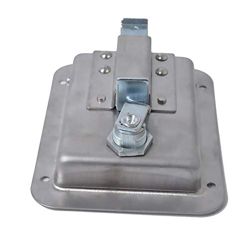 Chengstore Car Stainless Steel Trailer Toolbox Lock Door Lock in-Line Lock Tool Tear Drop Latch Stainless Steel Box Lock Stainless Steel Paddle Latch by Chengstore (Image #2)