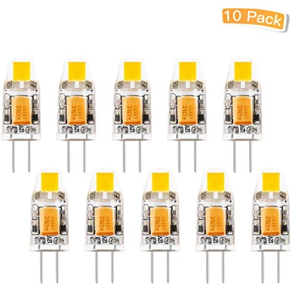 Pack of 10 Warm White G4 LED Light Bulbs 12V Halogen Lamp Bulb Replacement 1W