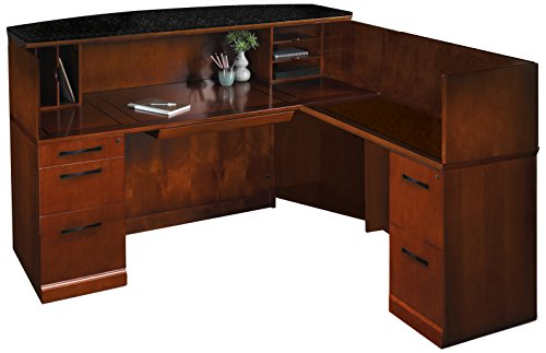 Mayline Sorrento Series Reception Stations/Occasional Tables and Reception Desk with Counter,