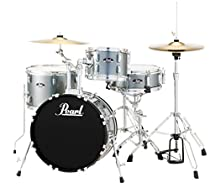 Pearl RS584CC706 Roadshow 4-Piece Drum Set, Charcoal Metallic