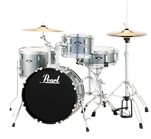 (Pearl RS584CC706 Roadshow 4-Piece Drum Set, Charcoal)