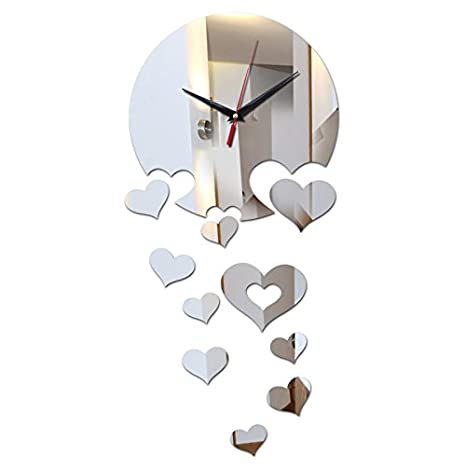 Wall stickers cc 3D relojes de réplica de reloj de llegada Watch Horloge en Europa aguja acrílico Casa Viva pegatinas ,Negro: Amazon.es: Hogar