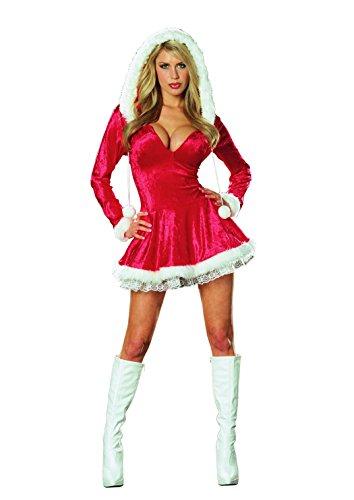Dreamgirl Womens Sleigh Belle Velvet Dress
