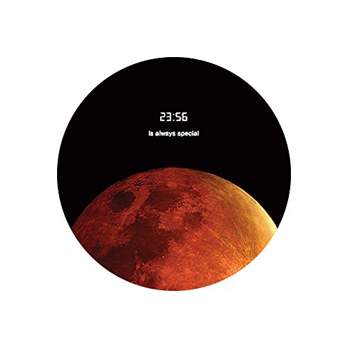 Space Galaxy Universe Planet Design Circular Mouse Pad (8.2 inches) (Blood Moon) Circular Spring