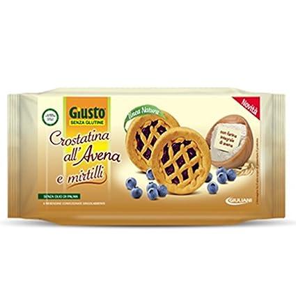 Giusto sin glutine Cazuelitas al Avena y Arándanos 200 g Caducidad 04/2018