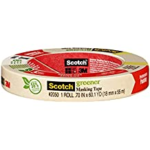 Scotch Greener Masking Tape for Performance Painting, 2050-18A, 0.70-Inch by 60.1-Yards, 1 Roll