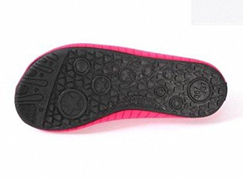 Papala Hombres Mujeres Niños Descalzas Zapatos De Agua De Secado Rápido Yoga Aqua Calcetines Slip-on Sneakers Rose Red