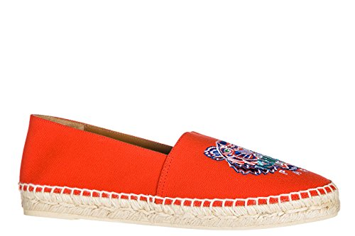 Kenzo Women's Red Cotton Espadrillas with Tiger Orange YQhvc