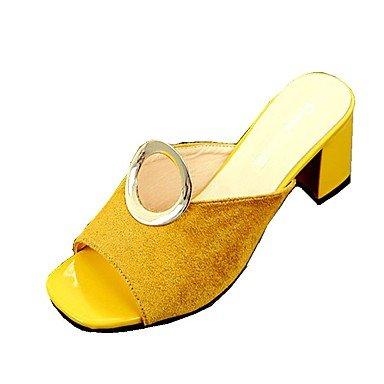 pwne Zapatillas De Mujer &Amp; Flip-Flops Verano Otoño Zapatos Slingback Club Moccasin Exterior De Terciopelo Visten Casual Chunky Talón Hebilla Caminar Conjunto Dividido US6.5-7 / EU37 / UK4.5-5 / CN37