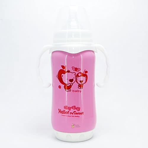 e0965fbb34b Rachna s Food Grade Stainless Steel Thermos Flask Silicone Nipple Baby  Feeding Bottle - 8141 - 300ML - Pink (12 Hours Hot-Cold Temperature  Maintenance ...