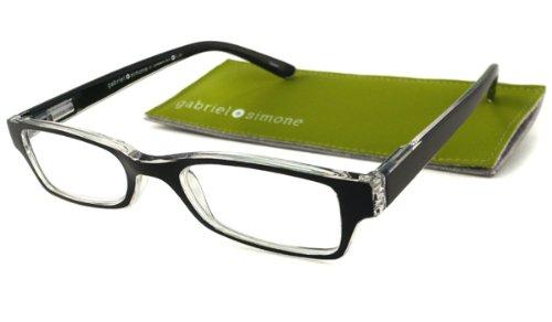 Gabriel + Simone Reading Glasses - Saint-Germain Black / Black & Clear - Eyesave.com