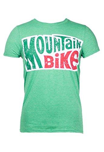 Noble Mountain Bike Logo Shirt Cycling - Funny Bicycle T-Shirt for Men (Large) Green