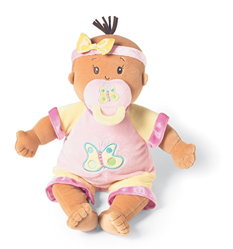 Manhattan Toy Baby Stella Beige Soft Nurturing First Baby Doll (Baby Doll Brown Hair)