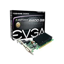 EVGA2 GeForce 8400 GS Passive 1024 MB DDR3 PCI Express 2.0 Graphics Card DVI/HDMI/VGA 01G-P3-1303-KR