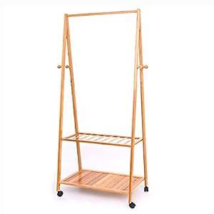 Amazon.com: zayymj xrxy multifunción simple bambú perchero ...