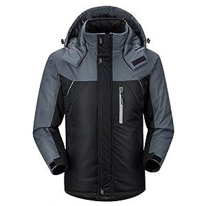 Ubon Men's Waterproof Windproof Outdoor Snow Jacket Ski Fleece Jacket
