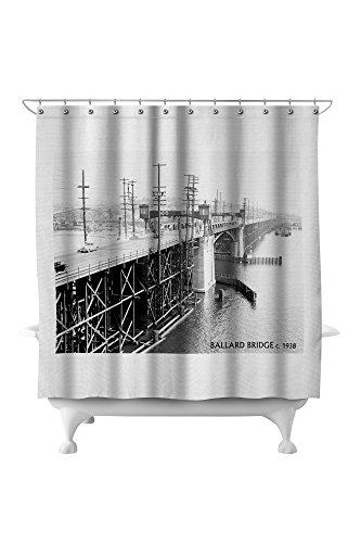 Ballard - Seattle, WA - Ballard Bridge (71x74 Polyester Shower Curtain) ()
