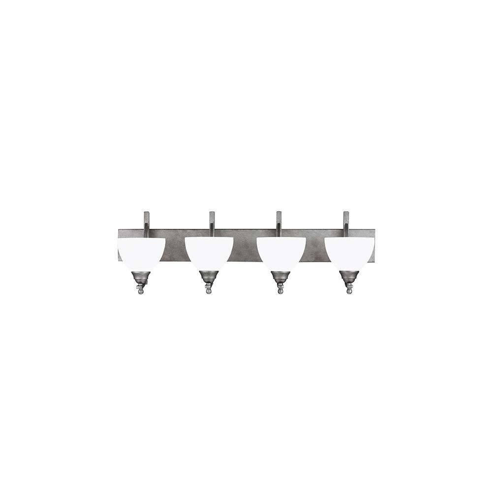 Sea Gull照明4431404 – 57 Vitelli – 風化4つライト壁/バスバー、ピューター仕上げwithサテンエッチングガラス B00HM1XNZE