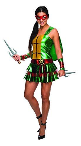 Ninja Turtle Adult Costume Raphael - Red - (Michelangelo Adult Female Costumes)