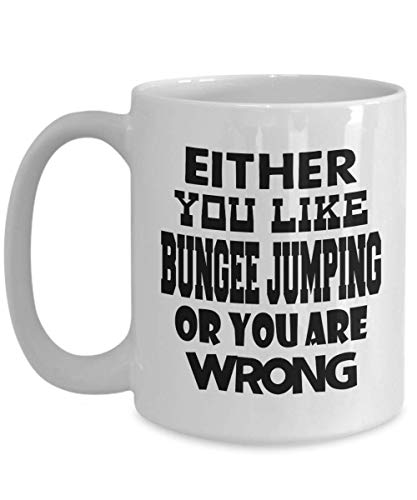 Bungee Jumping Mug | White - Either You Like Bungee Jumping