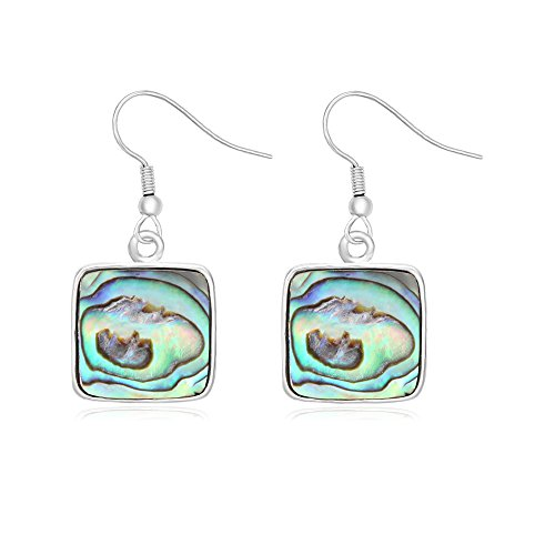 CHUANGYUN New Fashion Charm Abalone shellfish's geometric Earrings (Square)