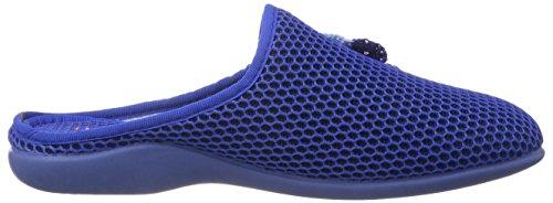 Florett Emma - Zapatillas de estar por casa de material sintético para mujer azul - Blau (20/blau)